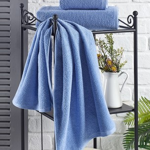 Полотенце для ванной Karna EFOR хлопковая махра голубой 40х60