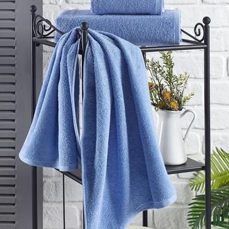 Полотенце для ванной Karna EFOR хлопковая махра (голубой)
