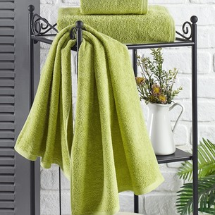 Полотенце для ванной Karna EFOR хлопковая махра зелёный 50х100