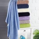 Полотенце для ванной Karna EFOR хлопковая махра зелёный 50х100, фото, фотография
