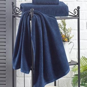 Полотенце для ванной Karna EFOR хлопковая махра синий 40х60