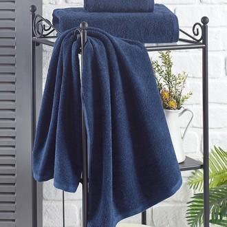Полотенце для ванной Karna EFOR хлопковая махра синий