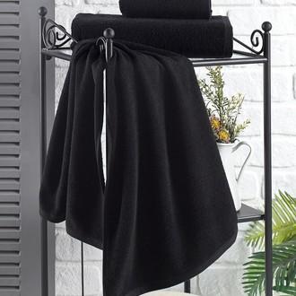 Полотенце для ванной Karna EFOR хлопковая махра (чёрный)