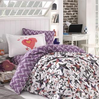 Детское постельное белье Hobby Home Collection CARMEN хлопковый поплин лиловый