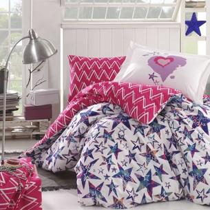 Детское постельное белье Hobby Home Collection CARMEN хлопковый поплин фуксия 1,5 спальный