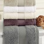 Полотенце для ванной Soft Cotton DELUXE махра хлопок/модал фиолетовый 50х100, фото, фотография