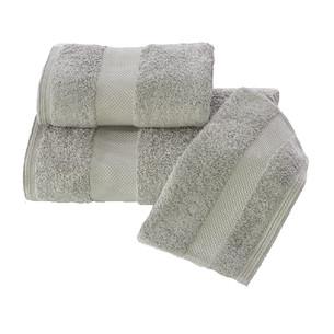 Полотенце для ванной Soft Cotton DELUXE махра хлопок/модал серый 75х150
