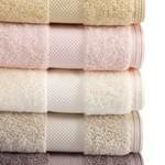 Набор полотенец для ванной в подарочной упаковке 32х50, 50х100, 75х150 Soft Cotton DELUXE хлопковая махра кремовый, фото, фотография