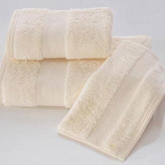 Набор полотенец для ванной в подарочной упаковке 32*50 3 шт. Soft Cotton DELUXE хлопковая махра жёлтый