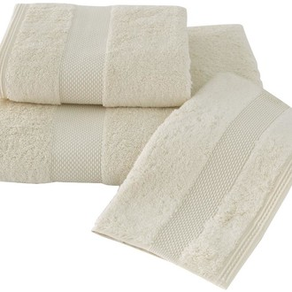 Набор полотенец для ванной в подарочной упаковке 32*50 3 шт. Soft Cotton DELUXE хлопковая махра кремовый