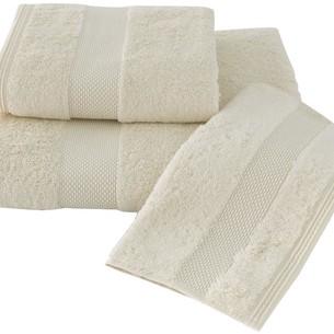 Набор полотенец для ванной в подарочной упаковке 32х50, 50х100, 75х150 Soft Cotton DELUXE хлопковая махра кремовый
