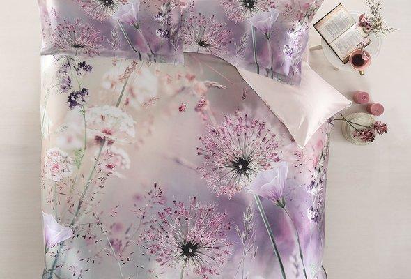 Постельное белье Tivolyo Home DANDELION хлопковый сатин делюкс семейный, фото, фотография