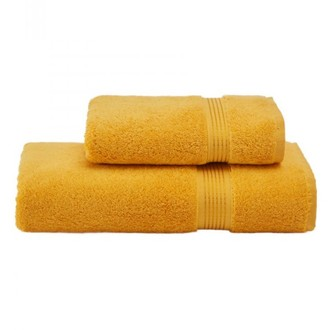 Набор полотенец для ванной 50х100, 75х150 Soft Cotton LANE хлопковая махра жёлтый