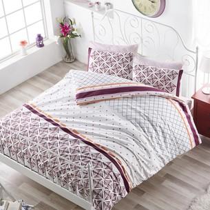 Постельное белье Altinbasak HERA хлопковый ранфорс бордовый 1,5 спальный