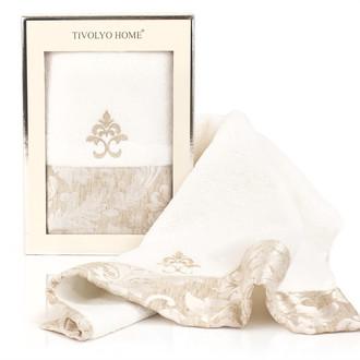 Полотенце для ванной в подарочной упаковке Tivolyo Home VITALY хлопковая махра (кремовый)