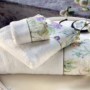 Набор полотенец-салфеток в подарочной упаковке 30х50 3 шт. Tivolyo Home NORA хлопковая махра кремовый