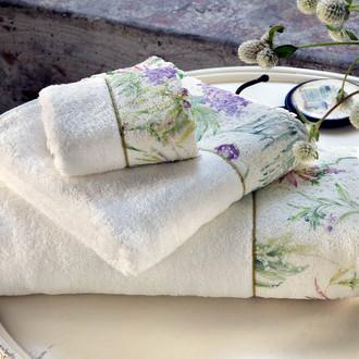 Набор полотенец-салфеток в подарочной упаковке 30*50(3) Tivolyo Home NORA хлопковая махра (кремовый)