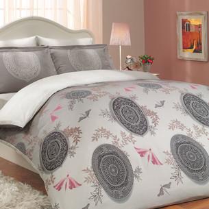 Постельное белье Hobby Home Collection ALICE хлопковый сатин лиловый семейный