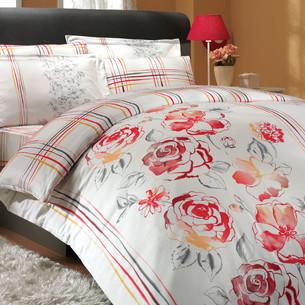 Постельное белье Hobby Home Collection ARABELLA хлопковый сатин красный семейный