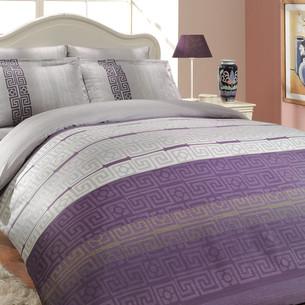 Постельное белье Hobby Home Collection DENIM хлопковый сатин лиловый семейный