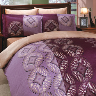 Постельное белье Hobby Home Collection GRIS хлопковый сатин фиолетовый