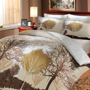 Постельное белье Hobby Home Collection INFINITY хлопковый сатин кремовый 1,5 спальный