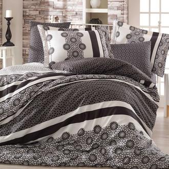 Постельное белье Hobby Home Collection LISA хлопковый сатин (чёрный)