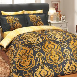 Постельное белье Hobby Hobby Collection MONART хлопковый сатин золотой семейный