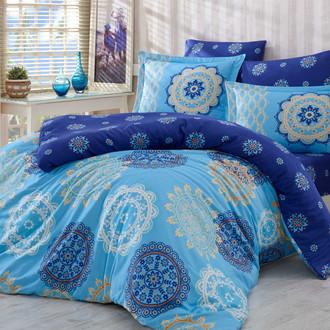 Постельное белье Hobby Hobby Collection OTTOMAN хлопковый сатин голубой
