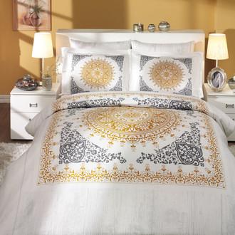 Постельное белье Hobby Hobby Collection SAPHIRE хлопковый сатин золотой