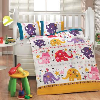 Комплект детского постельного белья Hobby Home Collection OSCAR хлопковый поплин (белый)