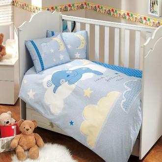 Комплект детского постельного белья Hobby Home Collection SLEEPER хлопковый поплин (синий)