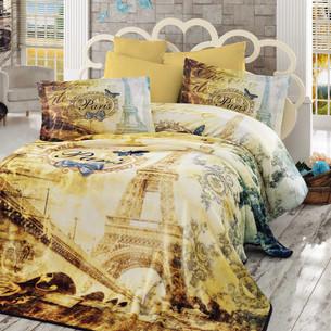 Постельное белье с покрывалом Hobby Home Collection VIVALDI хлопковый поплин золотой евро