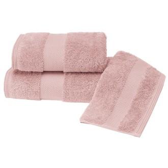 Полотенце для ванной Soft Cotton DELUXE махра хлопок/модал тёмно-розовый