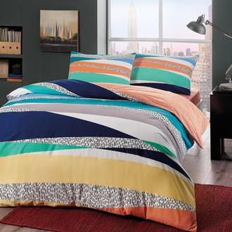 Комплект подросткового постельного белья TAC GENESIS хлопковый ранфорс (голубой)