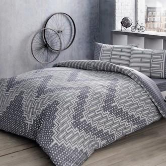 Комплект подросткового постельного белья TAC LEE хлопковый ранфорс (серый)