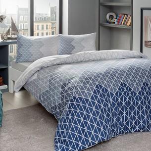 Комплект подросткового постельного белья TAC LUCAS хлопковый ранфорс серый евро