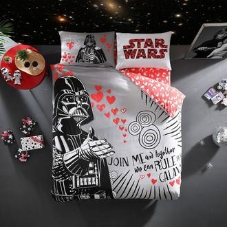 Комплект детского постельного белья TAC STAR WARS VALENTINES DAY хлопковый ранфорс