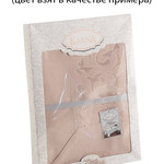 Скатерть прямоугольная Karna MARAL жаккард с пропиткой капучино 160х300, фото, фотография