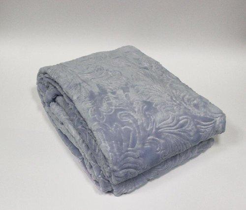 Плед-покрывало Tivolyo Home SOFT JAKARLI микрофибра голубой 160х220, фото, фотография