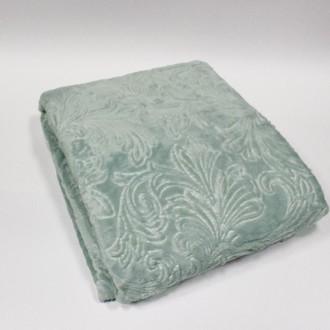 Плед-покрывало Tivolyo Home SOFT JAKARLI микрофибра (зелёный)