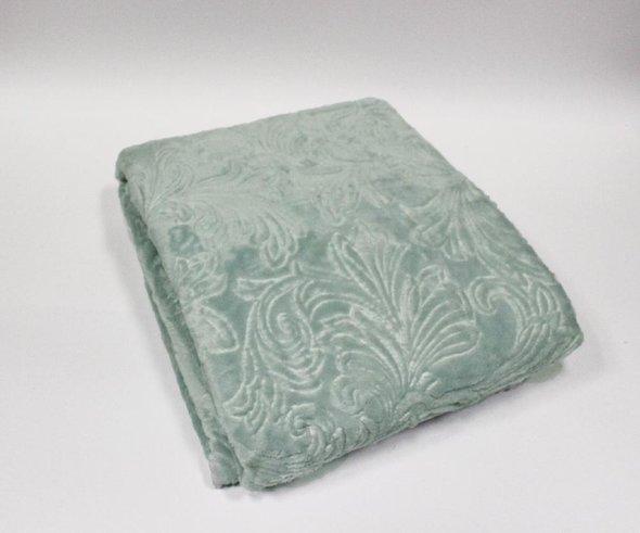 Плед-покрывало Tivolyo Home SOFT JAKARLI микрофибра (зелёный) 200*220, фото, фотография