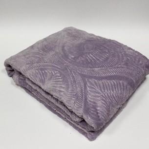 Плед-покрывало Tivolyo Home SOFT JAKARLI микрофибра лиловый 200х220