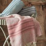 Пештемаль (пляжное полотенце, палантин) Ecocotton MILA органический хлопок бирюзовый 90х180, фото, фотография