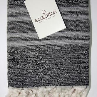 Пештемаль пляжное полотенце, палантин Ecocotton MILA органический хлопок серый