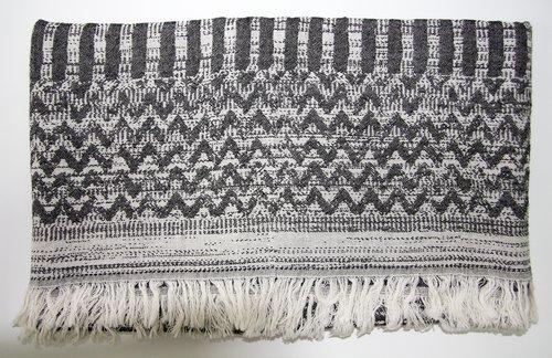Пештемаль (пляжное полотенце, палантин) Ecocotton KARLA органический хлопок чёрный 90х180, фото, фотография