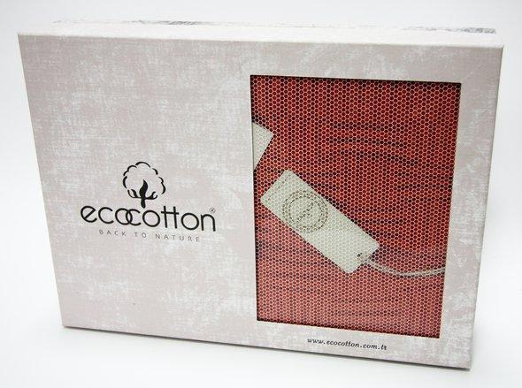 Плед-покрывало Ecocotton SIERRA органический хлопок терракотовый 200х220, фото, фотография