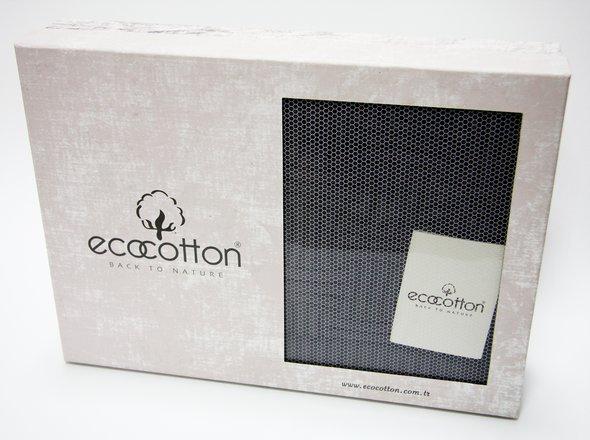 Плед-покрывало Ecocotton SIERRA органический хлопок антрацит 130*150, фото, фотография