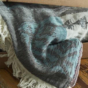 Пештемаль (пляжное полотенце, палантин) Ecocotton KAAN органический хлопок антрацит 90х180