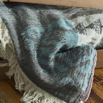 Пештемаль пляжное полотенце, палантин Ecocotton KAAN органический хлопок антрацит